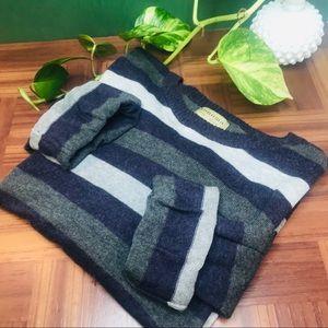 vtg vsco 90s striped oversized boyfriend sweater